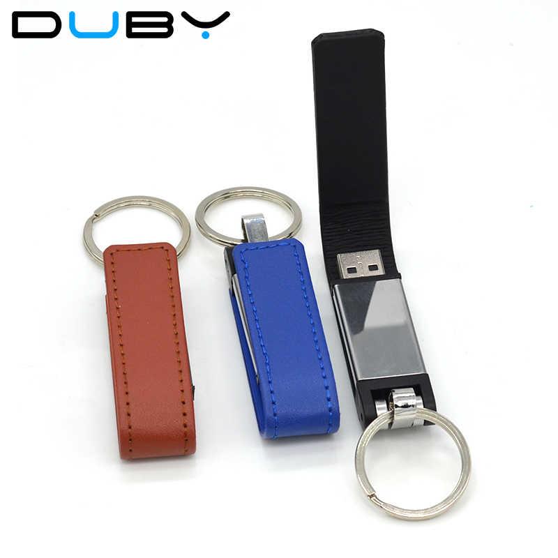 Couro usb flash drive USB moda de pele chaveiro pendriver gb 8 4 gb 16 gb gb de memória ucommercial 32 vara 64 gb Bom presente