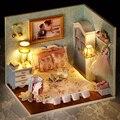 Handmade Doll House Furniture Miniatura Diy Doll Houses Miniature Dollhouse Wooden Toys For Children Birthday Gift Craft H010
