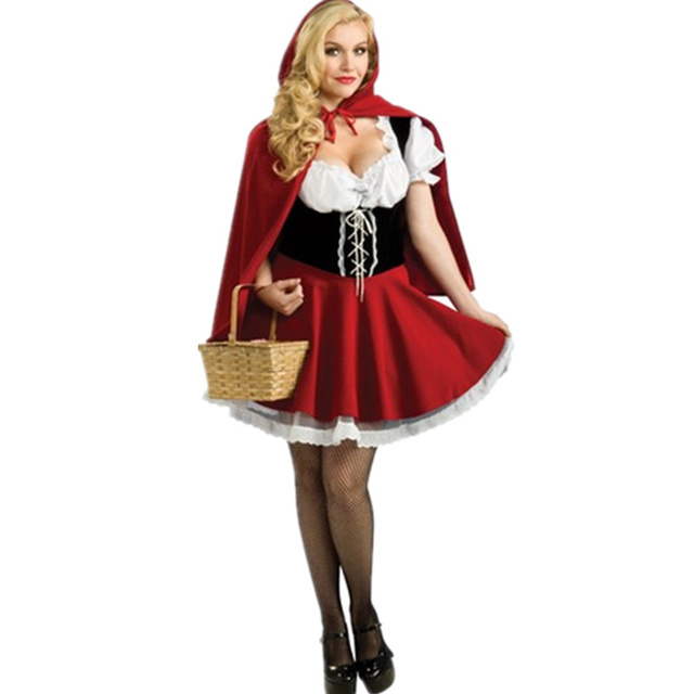 New Fairy Tales Little Red Riding Hood Costume Women Halloween Party