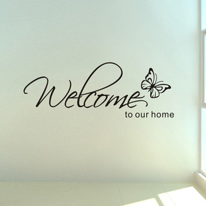 'Welcome To Our Home' Text Pat