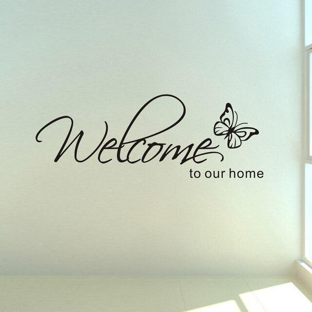 'Welcome Al Nostro Home' Modelli di Testo wall sticker home decor living room De