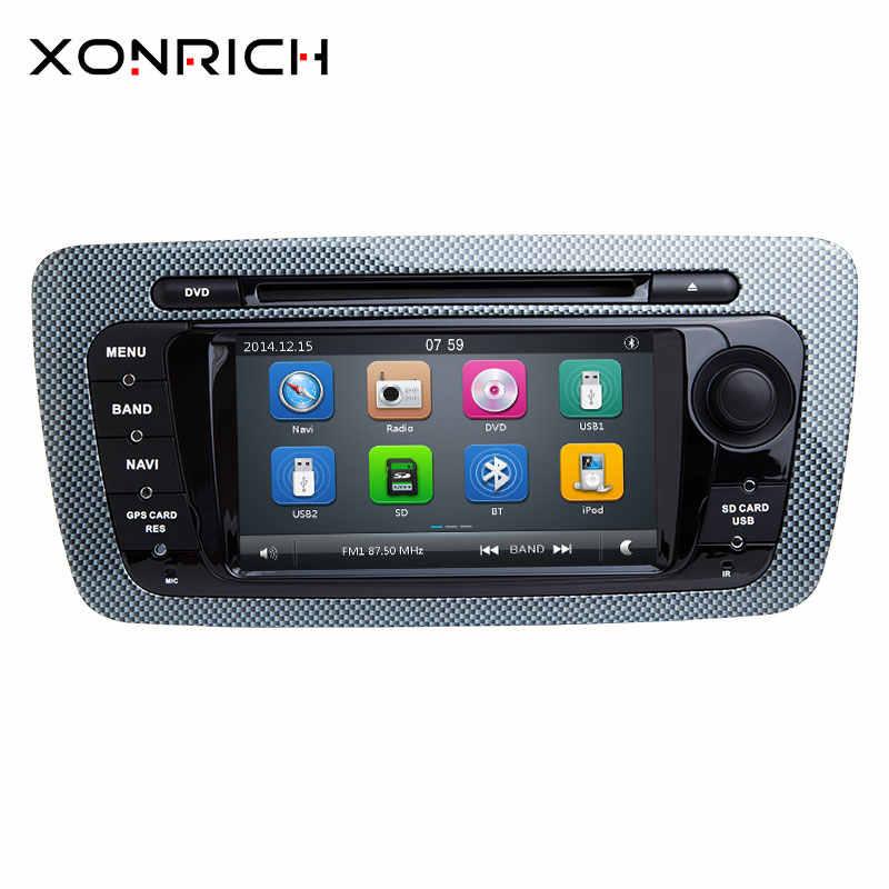 2Din автомобильное радио для машины dvd-плеер gps навигации для Seat Ibiza 6J MK4 SportCoupe Ecomotive Cupra 2009 2010 2011 2012 2013