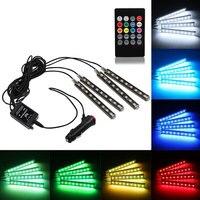 2016 Interior Decorative Atmosphere Neon Light Lamp LED Wireless Multi Color RGB Voice Sensor Sound Music