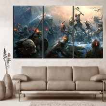 3 Pieces Home Decorative Game God of War Poster Wall Artwork Canvas Painting Modern HD Printing Type One Set Modular Picture
