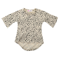 Fashion Baby Kids Girls Clothes Summer Casual 3/4 Long Sleeved Leopard Cotton Short Dress Wholesale 0-5T