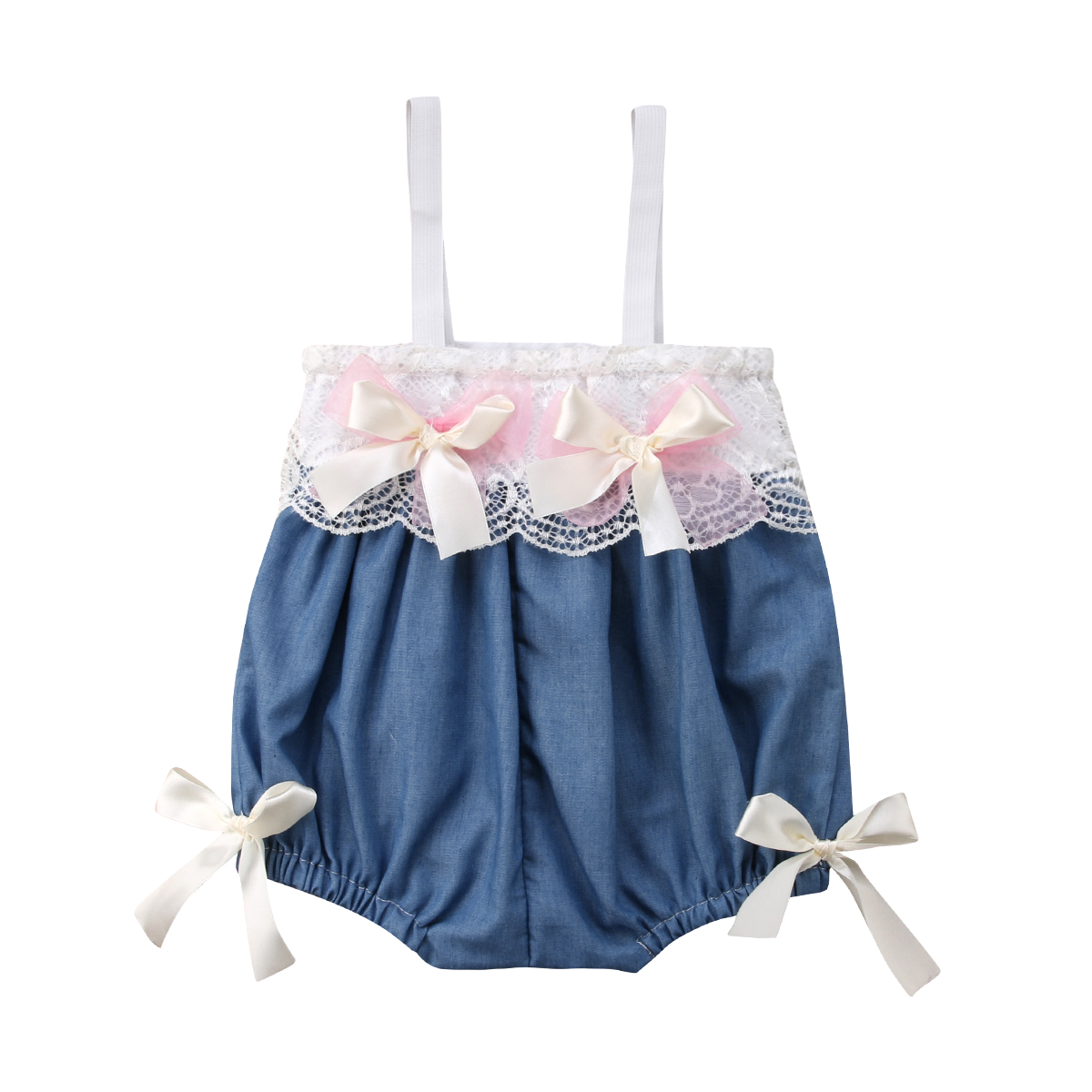 Princess Newborn Infant Kids Baby Girl Lace Floral Sleevelss Romper Summer Clothes Jumpsuit