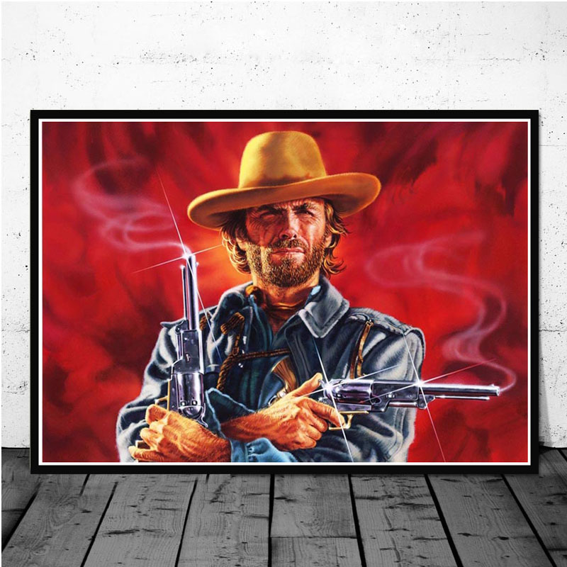 CLINT EASTWOOD DIRTY HARRY CANVAS PRINT PICTURE WALL HANGING ART FREE DELIVERY