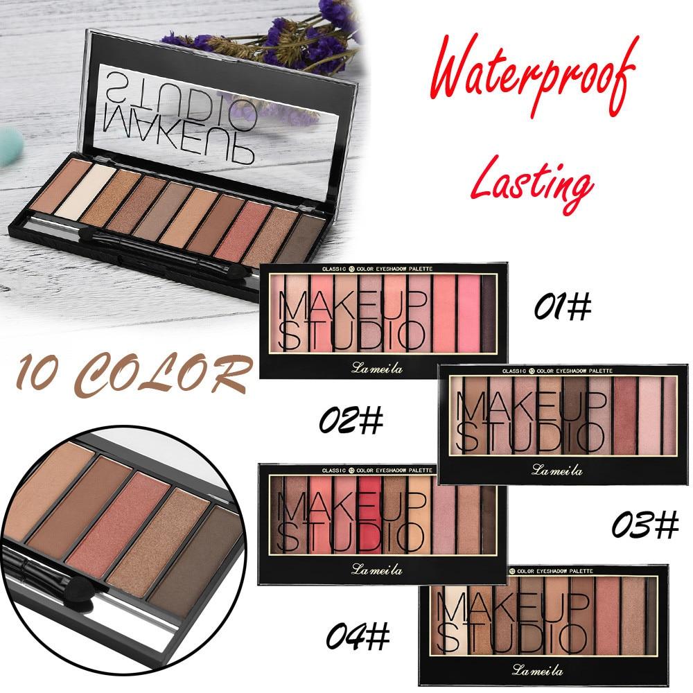 Eyeshadow Palette Makeup Cosmetics Diamond Glitter Metallic 9 Color Nude Creamy Pigmented Professional  Shadow Kit dropship F5.9