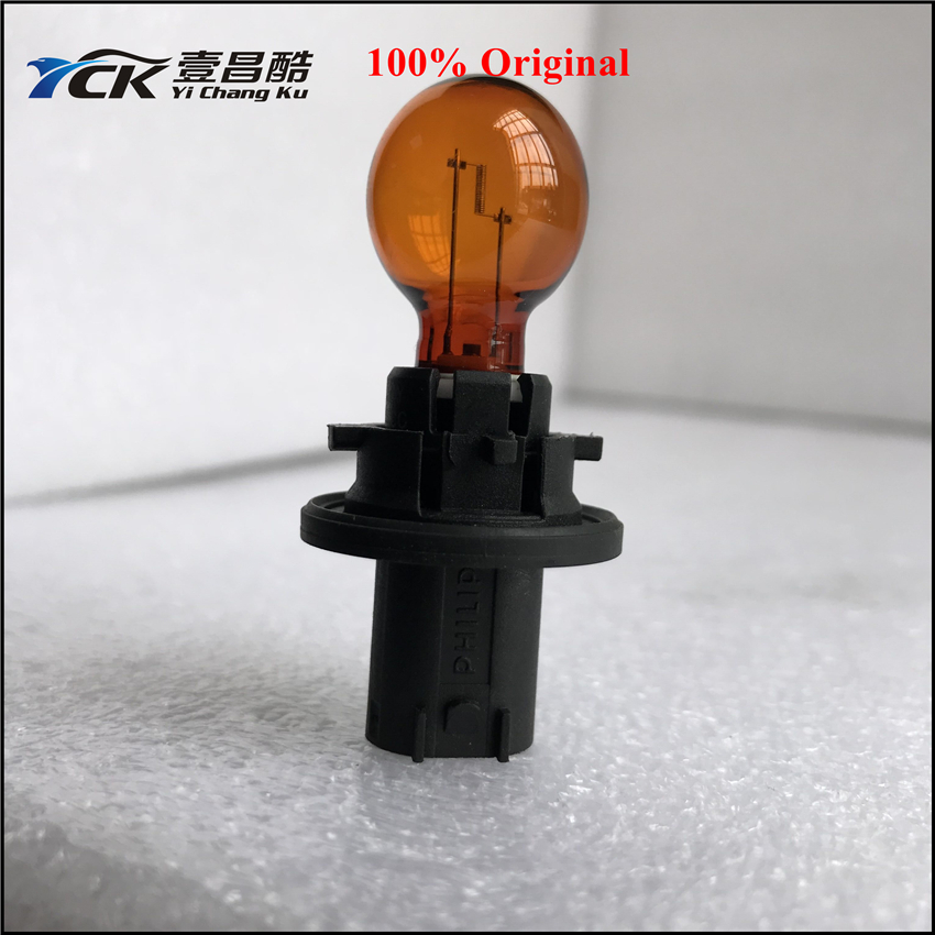 YCK Car-Bulb Color-Turn-Signal-Light Amber Ship PH24WY 12V 1PC Usually Genuine-And-Used