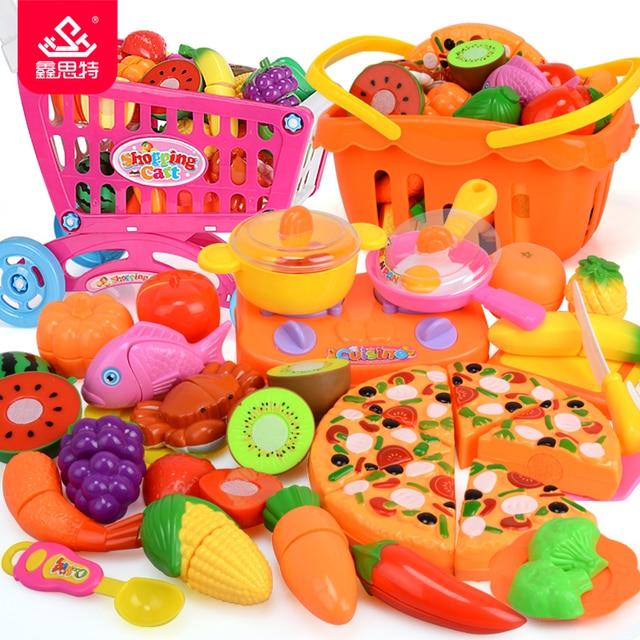 38 pz Bambini Cucina Tagliare Le Verdure Frutta Giocattoli di ...