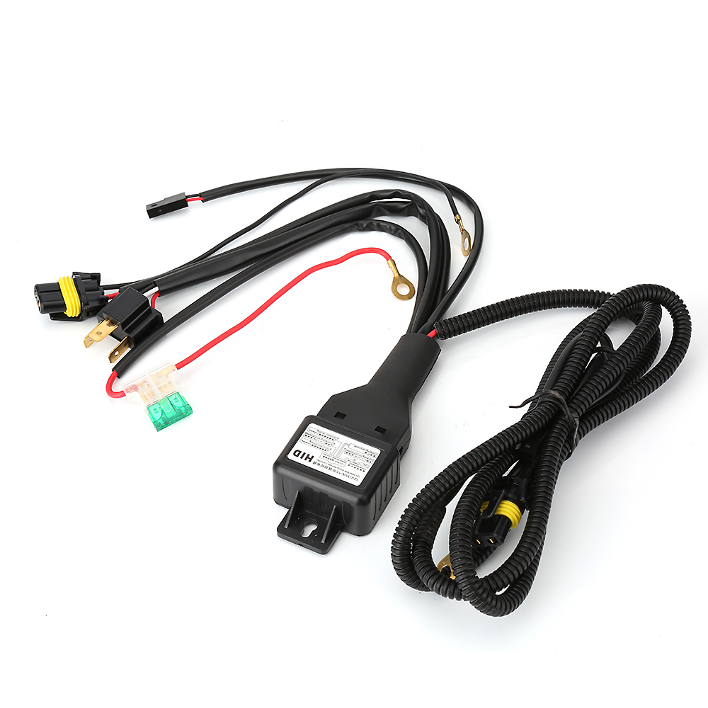small resolution of car styling h4 9003 headlight booster cable wire harness connector relay fuse socket black h4 headlight connector fuse socket