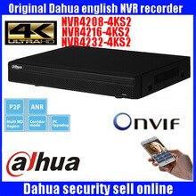 Original Dahua English version NVR4208-8P-4KS2 H.265 NVR with 2SATA 8POE ports , 4K NVR 8ch DHI-NVR4208-8P-4KS2