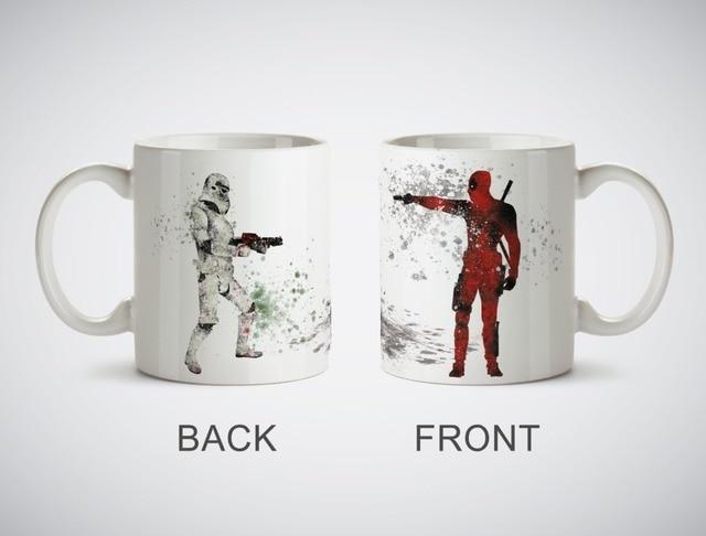 Star Wars Stormtrooper vs Deadpool tassen Küche Decor keramik kunst ...