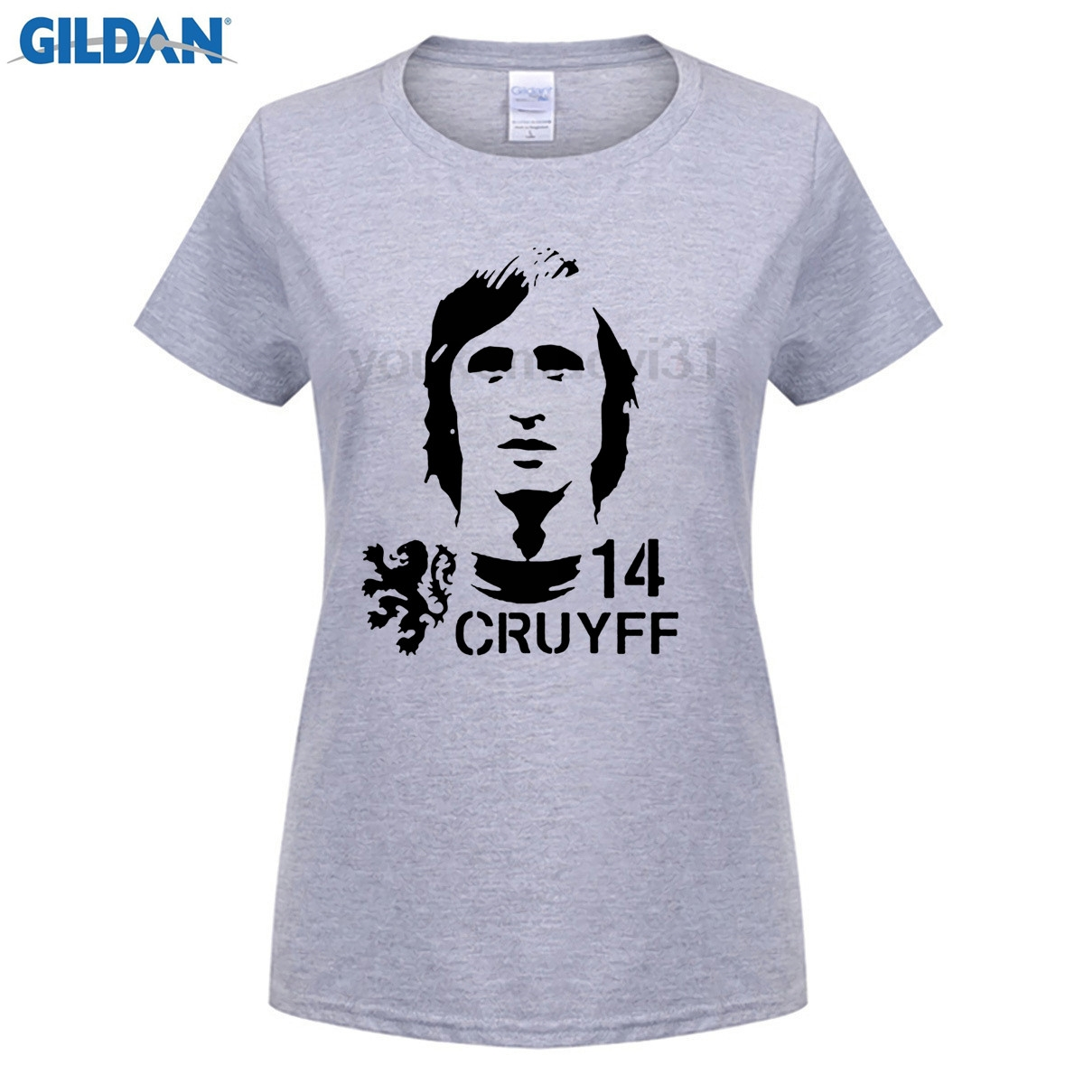funny woman t shirt Hendrik Johannes Cruyff Holland Nederland Ajax  The Godfather 100% cotton t shirt (2) 1