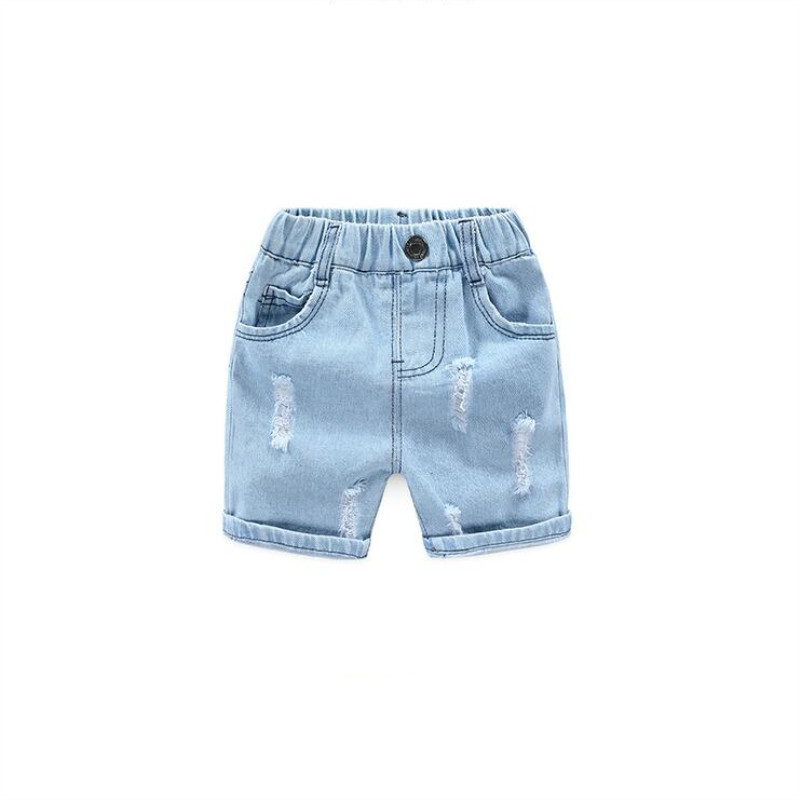 AJLONGER Boys Summer Jeans Shorts Children Cowboy Shorts Cotton Casual Baby Boys Trousers 2-7 Years Kids Clothes 1