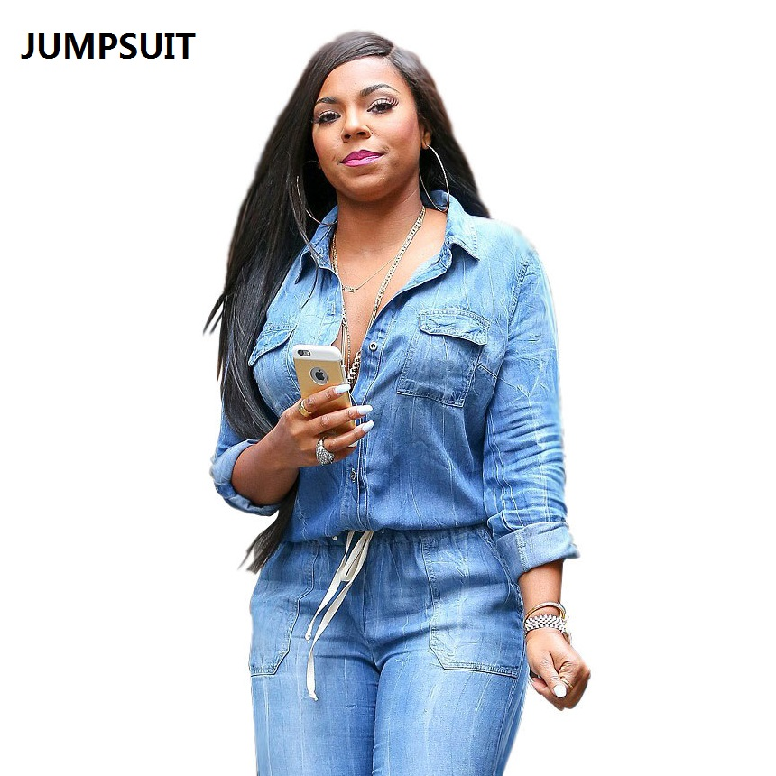 be9f0cded1a9 NEW Women Sexy Jumpsuit Hot Selling Women Jumpsuits   Rompers Jean With  Sashes Sexy Fashion Women Jumpers American Chamsgend