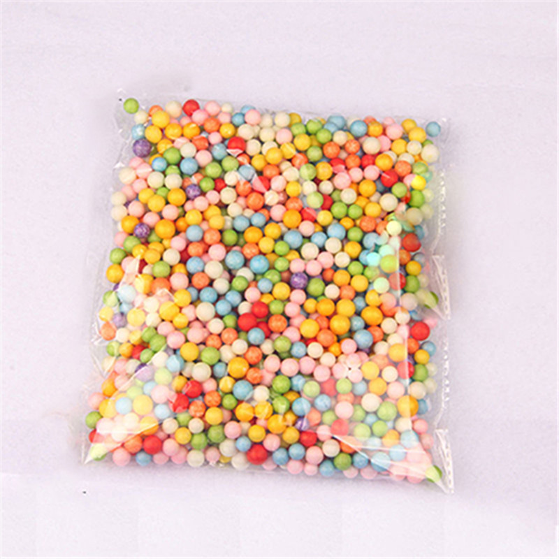 Assorted Colors Craft Styrofoam Filler Foam Mini Beads Kids DIY Jewelry Bead Balls Gift For Children