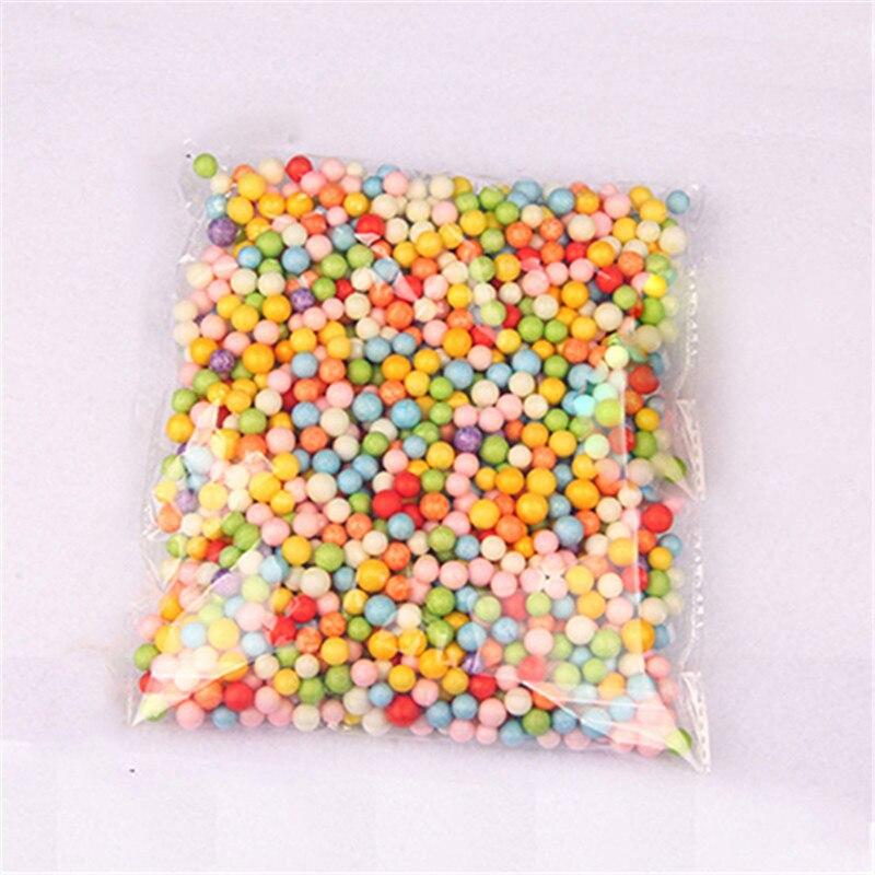 Assorted Colors Craft Styrofoam Filler Foam Mini Beads Kids DIY Jewelry Bead Balls Gift For Children