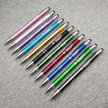 Top selling rubber Touch Stylus on pen top Free logo customized with company logo/address best gifts for events Summit