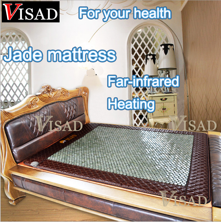 free shipping Far-infrared heating jade mattress with Physical therapy heating for health care best gift for parents best present for christmas for parents keep warm heating germanium mattress heat mattress bed size ac220v free shipping