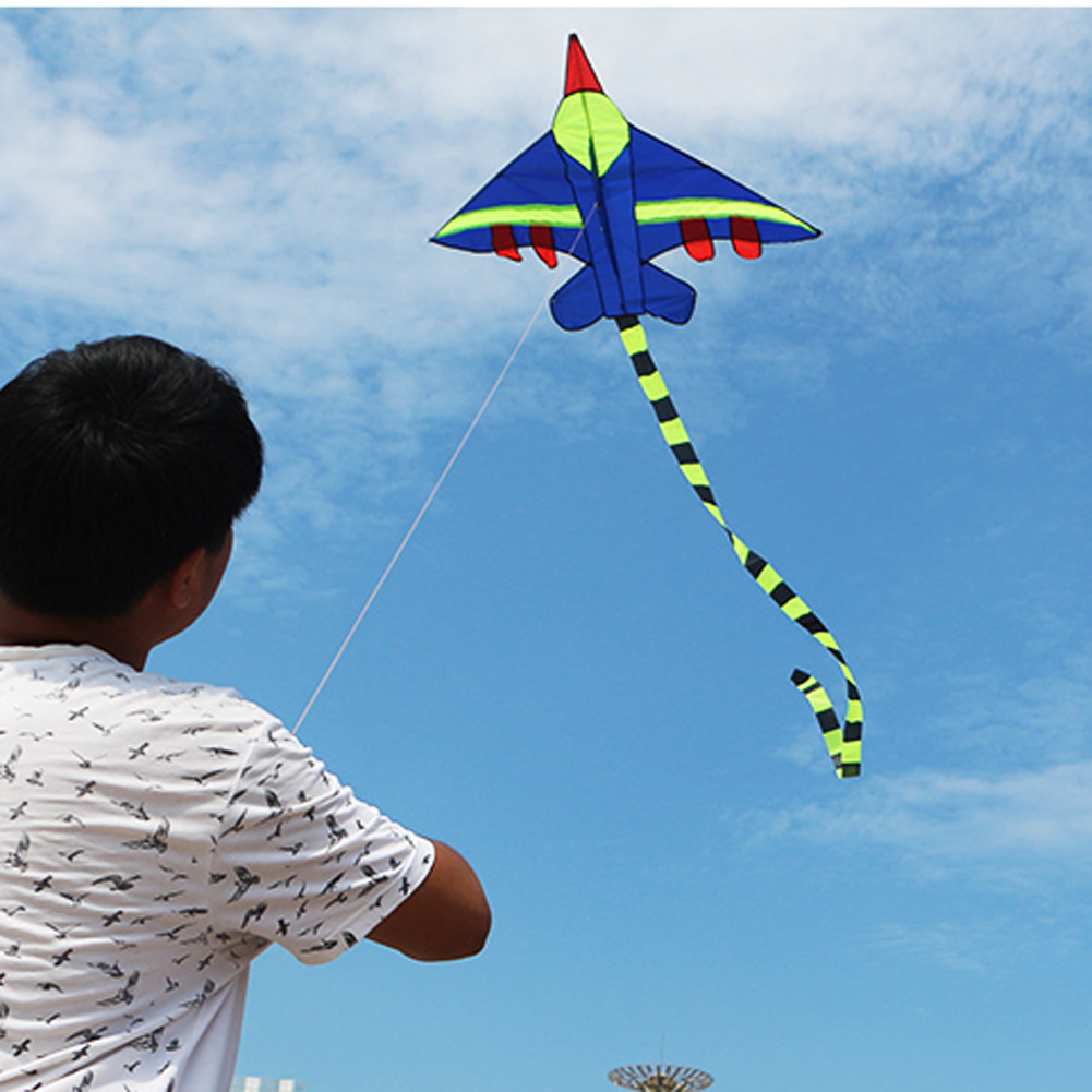 Novelty Kids Flying Kite Airplane Shape Long Tail Kites Without Lines Children Outdoor Sports Playing Toys Kids Stunt Kite Toys Kites & Accessories