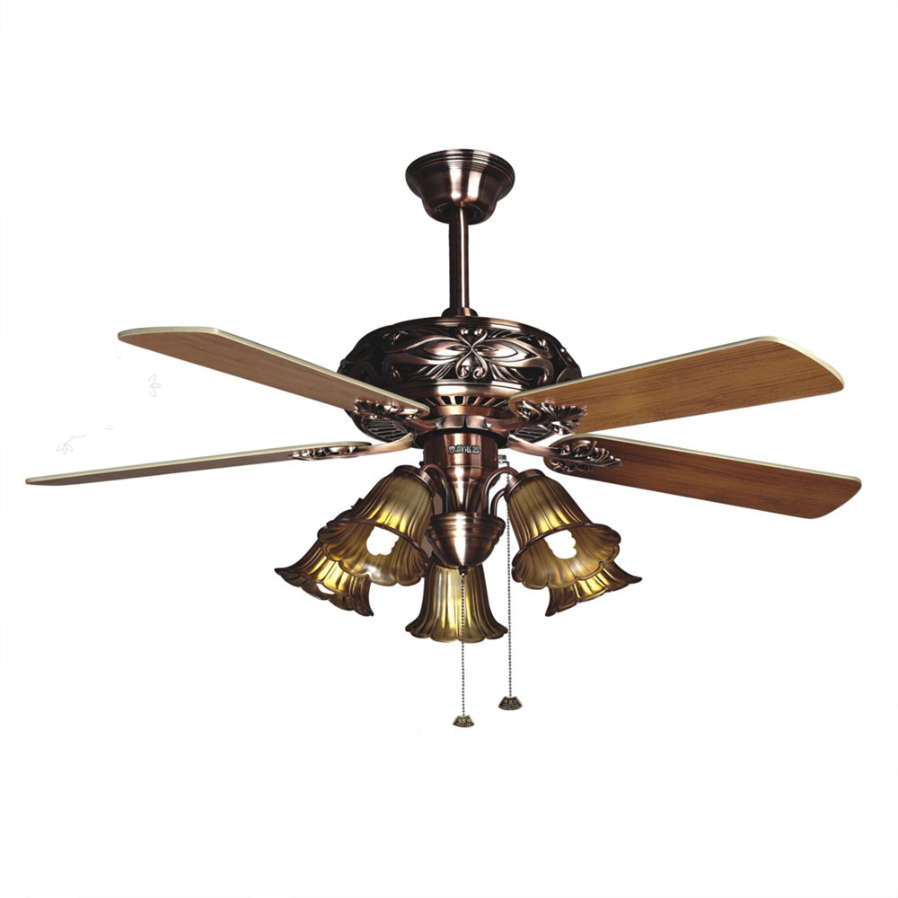 Ceiling Fan Light Living Room Antique Dining Room Fans: Hot Ceiling Fan European Antique American Pastoral Lamp
