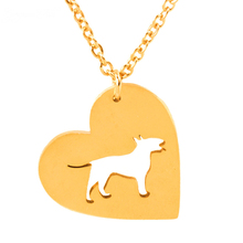 GORGEOUS TALE Boho Chains Jewelry Collares Mujer Stainless Steel Bull Terrier Dog Necklace for Women Statement Necklace 2017