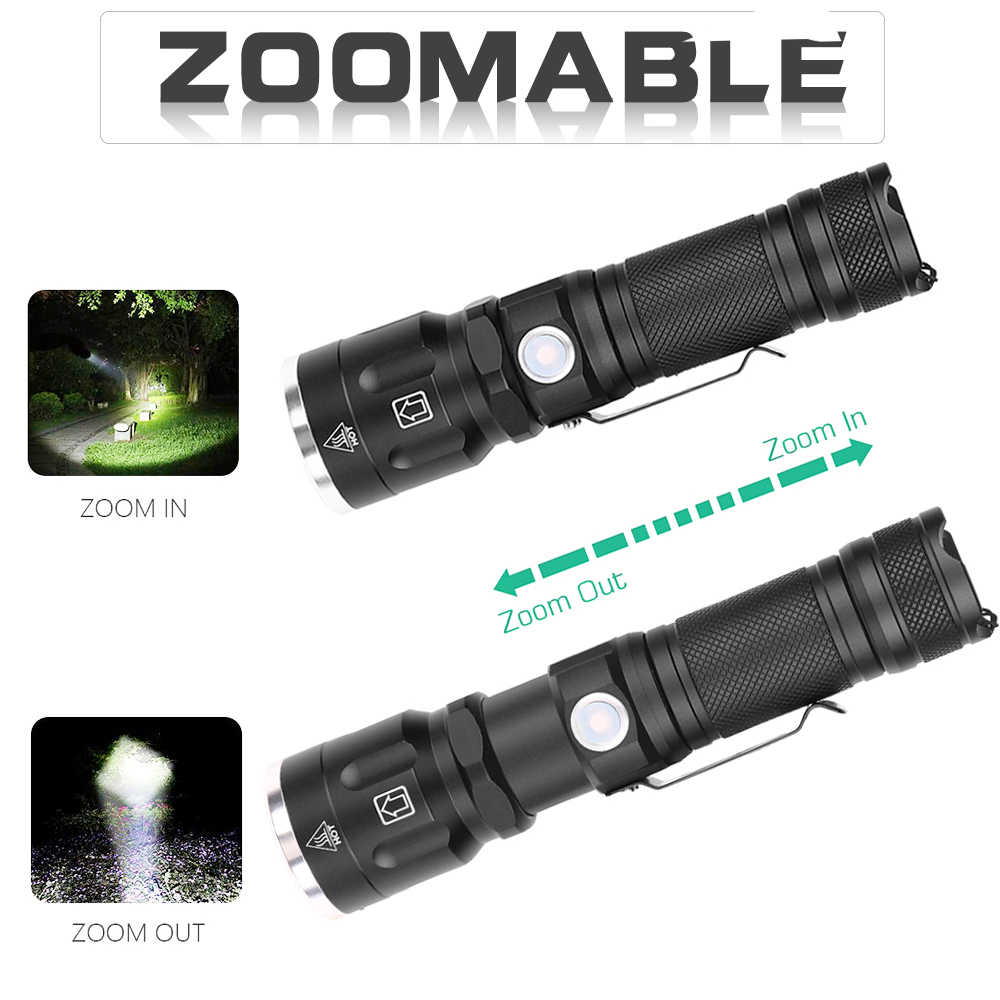 32000Lumens tactical flashlight -XHP50 LED Flashlight Super Power Zoomable Hunting Torch 5Modes 18650 Best Camping,Outdoor light