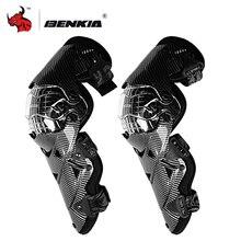 BENKIA Moto genouillère équipement de protection coque PC Moto Motocross genouillères moteur course gardes engrenages de sécurité attelle de course