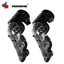 BENKIA мотоциклетные наколенники Защитное снаряжение PC оболочка мото мотокросса наколенники мотогонок Защитное снаряжение s гоночная скоба