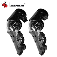 Benkia motocicleta joelheira engrenagem de proteção pc escudo moto motocross joelheiras guardas do motor-corrida de segurança engrenagens corrida cinta