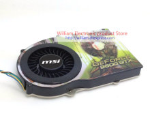 цены New Original MSI for XFX 9600GT 9600GTX 9800 radiator with a copper base heat pipe 53MM graphics card cooler cooling fan