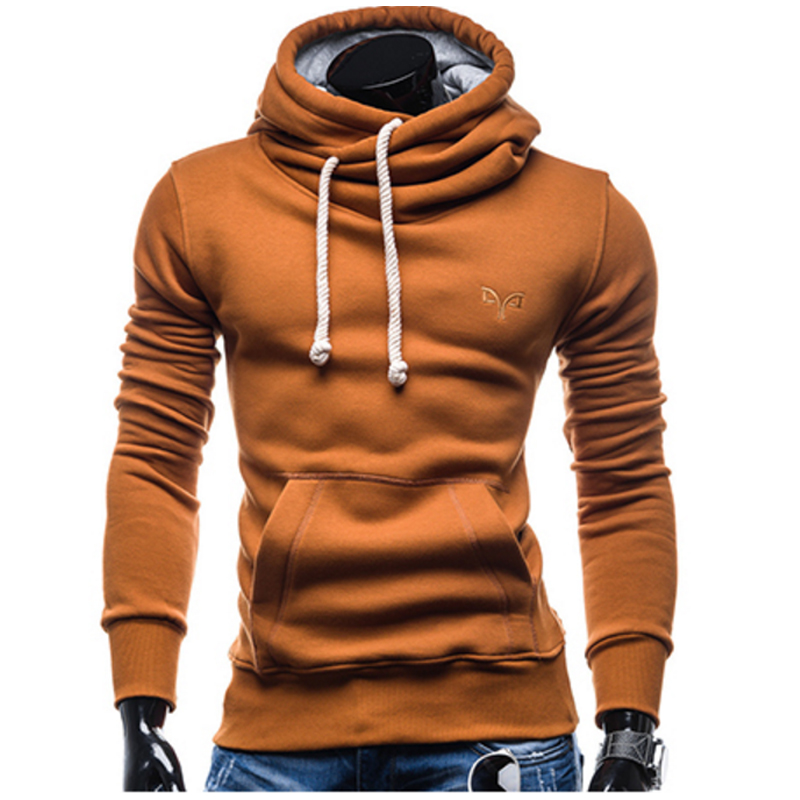Hooded Men S 2017 Fashion Brand Male Long Sleeve Hoodie Sweatshirt Men S Slim Solid Color