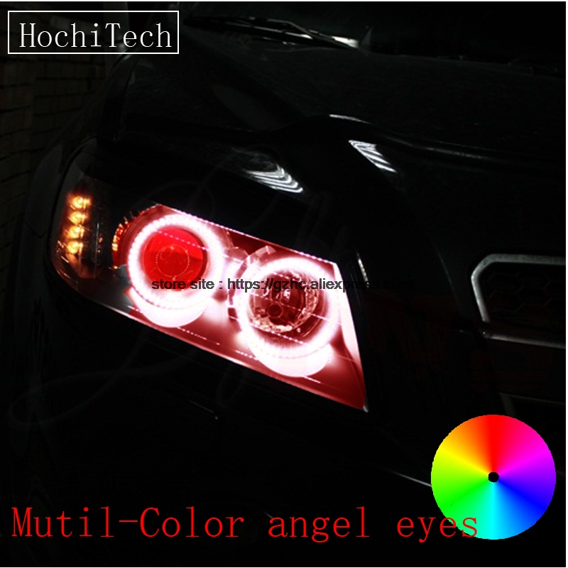 HochiTech for CHEVROLET CAPTIVA S3X 2006-2011 car styling RGB LED Demon Angel Eyes Kit Halo Ring Day Light with a remote control 2pcs super bright rgb led headlight halo angel demon eyes kit with a remote control car styling for ford mustang 2010 2012