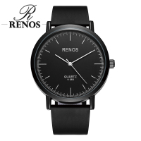 RENOS   Watches     Women   With Exquisite Hot Simple Black White Wristwatches Fashion Casual   Women's     Watch   relogio masculino relogio