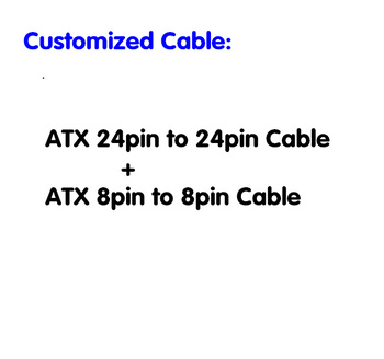 Customized Cable : ATX 24pin to 24pin Power Cable 16AWG wire  + ATX 8pin to 8pin power cable 16AWG wire