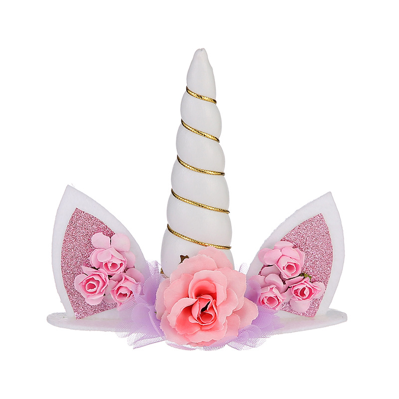 1pcs  2018 Spotted Butterfly Bow Tie With Hair Band Big Bow Tie Girl's Head Hoop Hair Accessories Unicorn Cake Decoration