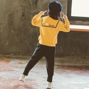 Image 3 - בנות בגדים סטי אביב סתיו ילדים ארוך שרוול חולצות + מכנסיים חליפה חדש הילדה Outewear ילדי בגדי סט 4 13Y