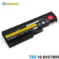 HONGHAY Laptop Battery for LENOVO ThinkPad R60 R60e T60 T60p T61 T61p R500 T500 W500 SL400 SL500 SL300 42t4670 42T5232 42T4651