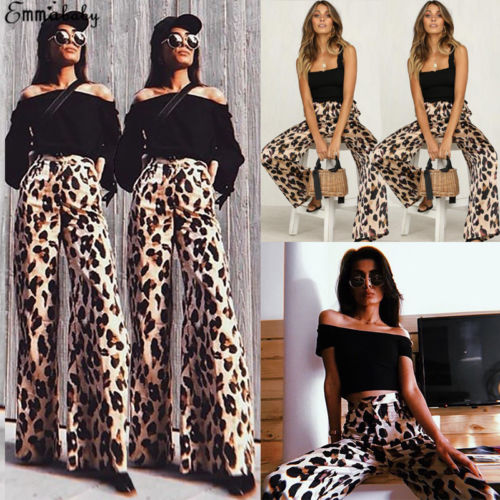 New Hot Trousers For Women Ladies Palazzo Pants Plain Flare Pants High Waist Solid 2017 Wide Leg Baggy Bell Bottoms Clients First Pants & Capris