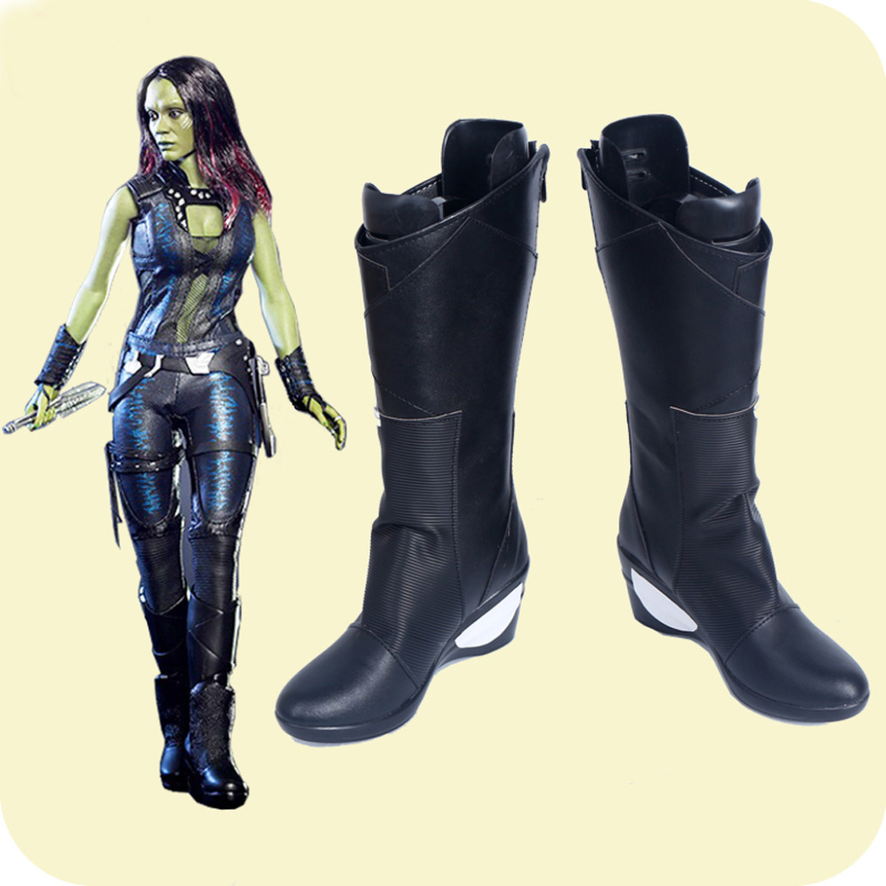 Guardians of the Galaxy Vol. 2 Gamora Cosplay Shoes Boots Superhero Halloween Carnival Party Costume Accessories For Women