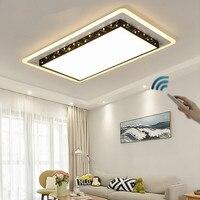 Светодиодный Потолочные светильники с пульта дистанционного управления гостиной Кухня акриловые Домашнее освещение Plafon светодиодный све