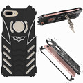 R-JUST Batman 6061 Aluminum Shockproof Frame Stand Metal Case Cover for iPhone 7 7 Plus