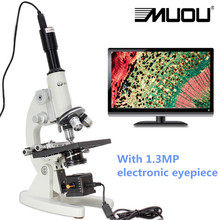 Top Quality Professional USB Biological Microscope,40X-1600X Magnification HD high-powered microscope MUOU Stereo microscope