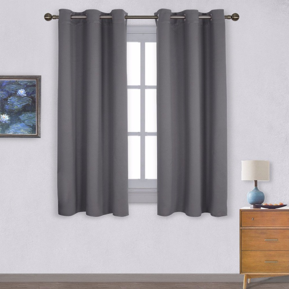 nicetown blackout curtain panels for bedroom thermal insulated grommet top blackout draperies and drapes 1 panel - Drapery Panels