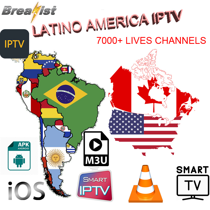 Spain IPTV Latino USA Chile Peru Argentina Spanish Android TV Box IPTV Canada Ecuador Colombia Uruguay Smart TV Brazil M3U Code