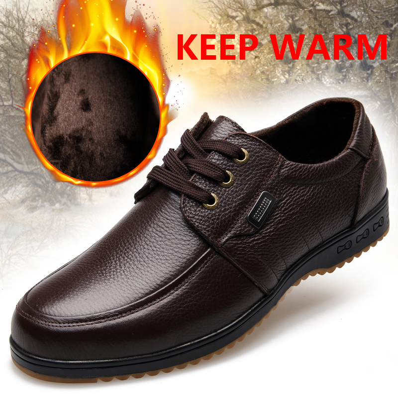 Black Brown Men's Leather Shoes 2018 New England Leather Shoes - Men's Shoes - Photo 4