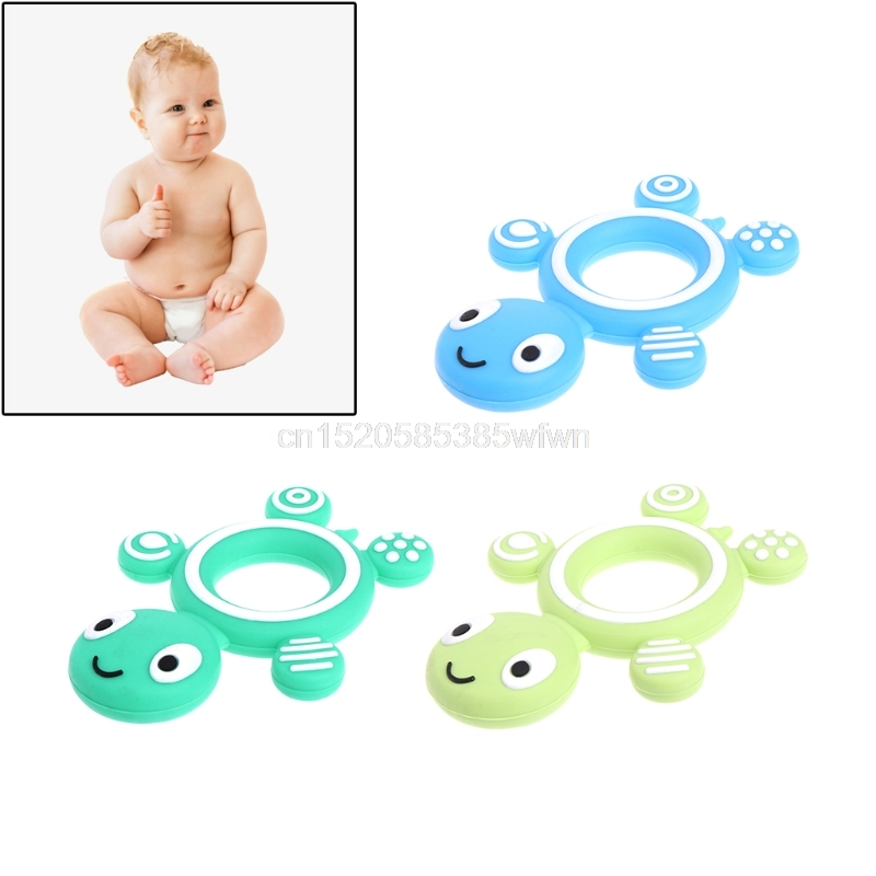 Safety Tortoise Baby Kids Food Grade Silicone Soother Teether Teething Pacifier J06 dropshipping
