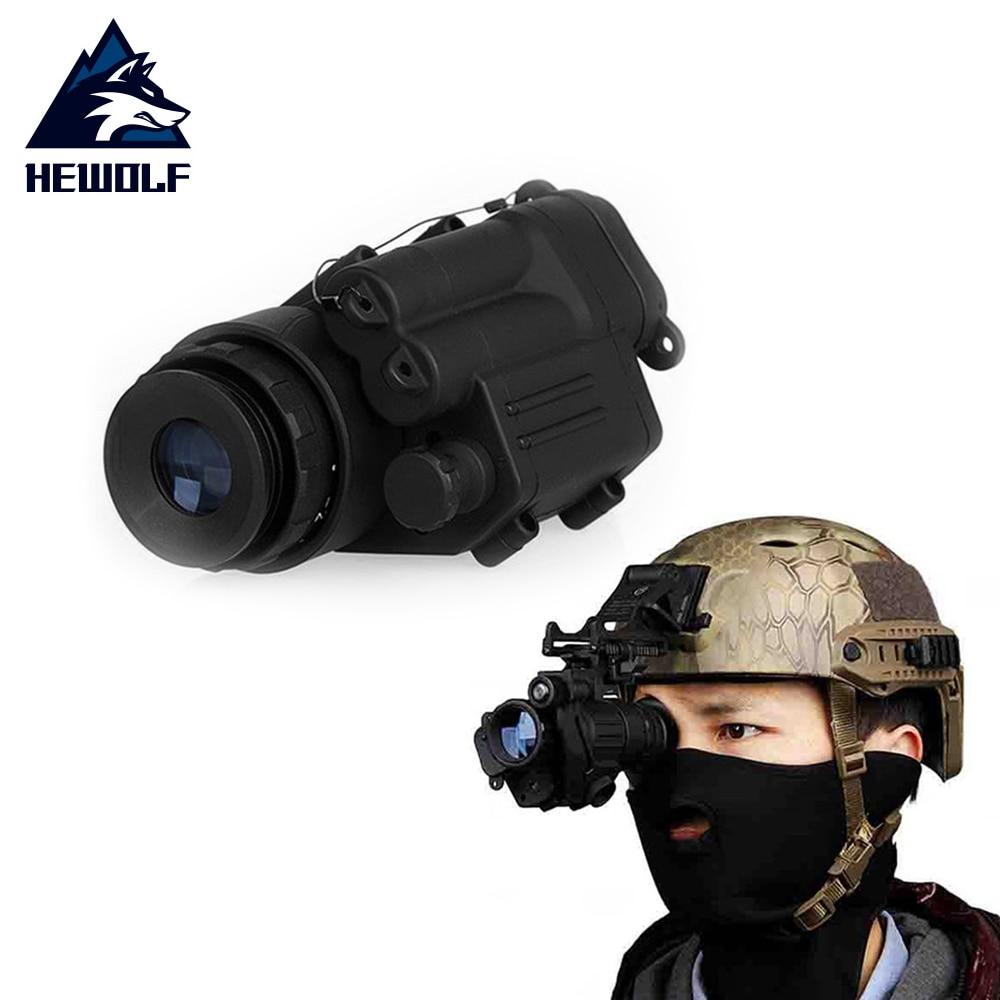 Hewolf Hunting Night Vision Riflescope Monocular Device Waterproof Night Vision Goggles PVS-14 Digital IR Illumination Helmet