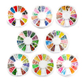 2015 Hot Sale Nail Jewelry Canes Fimo Fruit Slices Leaves Flowers Animal Models 8 Designs  Manicure Nail Wheel for Gel Nail